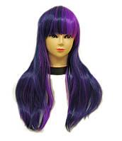 Парик женский искусственный little pony карнавальный фиолетовый c синим Twilight Sparkle сумеречная искорка