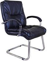 Кресло для руководителя Палермо CF хром Флекс-кожа черная Лайт