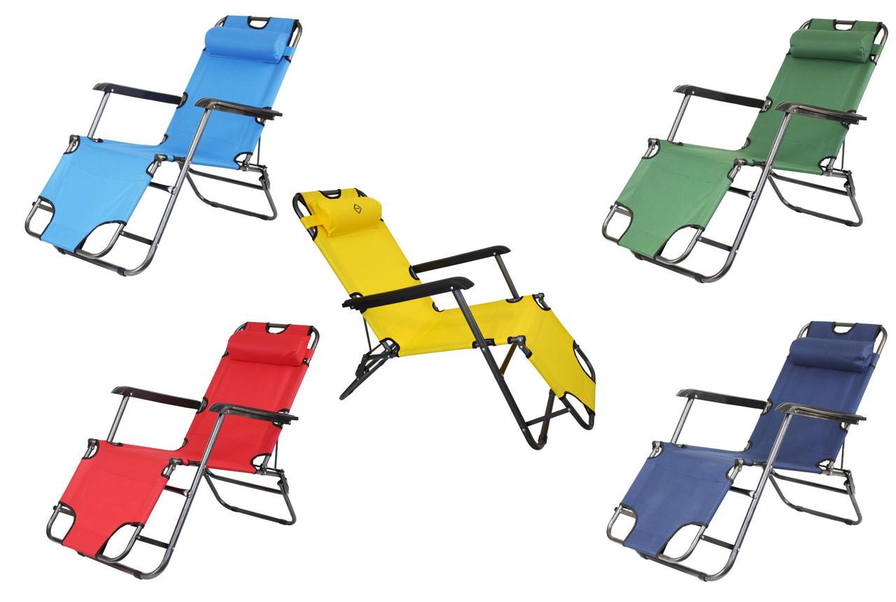Садовое кресло шезлонг с подголовником Bonro (153 см)