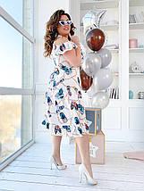 """Летнее миди-платье на запах """"Джасмин"""" с оборками (большие размеры), фото 2"""
