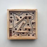 Дерев'яна іграшка головоломка Лабіринт малий
