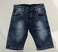 """Джинсовыешортыстильные детскиедля мальчика """"Jeans"""" от 1 до 5 лет потертые,синего цвета, фото 1"""