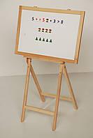 """Двухсторонний мольберт для рисования мелками и маркером  """"Инь-Янь"""" магнитный, фото 1"""