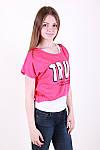 Молодіжна літня футболка двійка з написом в кольорах, фото 5