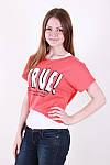Молодіжна літня футболка двійка з написом в кольорах, фото 6