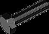 Болт М6х12 с шестигранной головкой сталь кл. пр. 10.9, БП, полная резьба ГОСТ 7798 (DIN 933)
