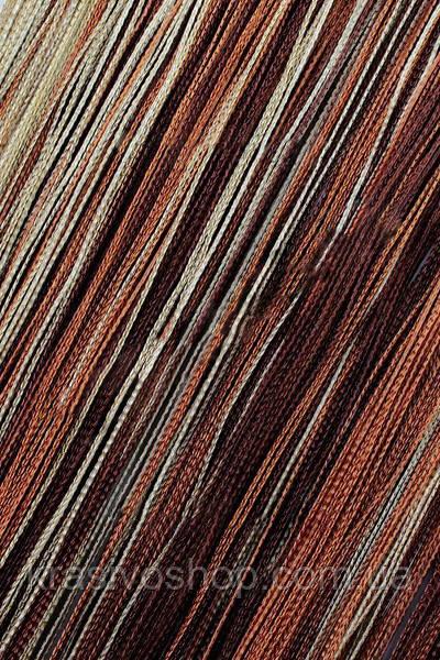 Шторы нити Радуга вертикальная Шоколад, Коричневый, Бежевый