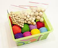 Набор для создания слингобус Ярмирина (нитки, бусины, крючок, инструкция, коробка), фото 1