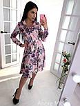 Женское красивое платье-рубашка с цветочным принтом, фото 2