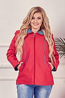 Женская куртка средней длинны весна-осень больших размеров 50, 52, 54, 56, 58, 60 (расцветки)