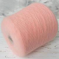 Ангора 80%, па 20%  Filati Blagiolo  Malo spa. Розовый пудровый.