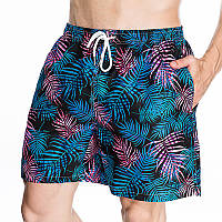 08721d9616d Мужская шнуровка Свободный гавайский стиль Лист Печать быстро сохнет  Пляжный Шорты 1TopShop
