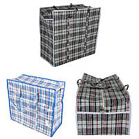 Хозяйственная сумка клетка №4 47 x 55 x 28 см (уп-12 шт), фото 1