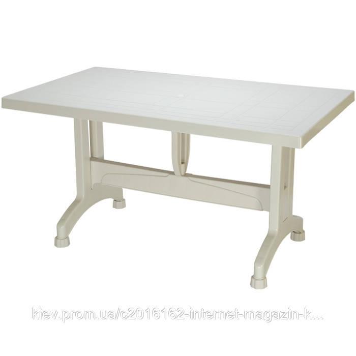 Пластиковый стол для кафе сельви белый с пластиковыми ножками
