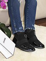 Ботинки женские в спортивном стиле черные