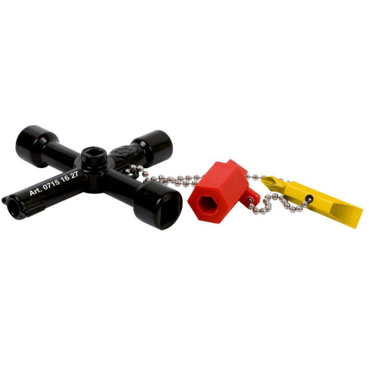 Универсальный ключ 5 в 1 для всех стандартных шкафов в области электротехники, газа,воды и вентиляции Wurth