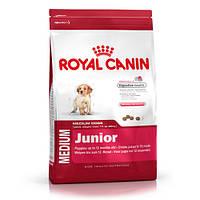 АКЦИЯ!!! 15+3кг В подарок.Royal CaninMEDIUM JUNIOR корм для щенков в возрасте от 2 до 12 месяцев18кг