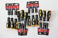 Отвертка шлицевая 4x100 мм (12 шт) Top Tools.