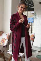 Модный кардиган женский вязаный с застежкой на брошь и принтом леопард 42-52, фото 3