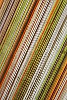 Шторы нити Радуга вертикальная оранжевый+бежевый+оливковый+молочный, фото 1