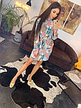 Женское красивое платье-рубашка из штапеля с цветочным принтом (3 цвета), фото 5