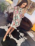 Женское красивое платье-рубашка из штапеля с цветочным принтом (3 цвета), фото 4