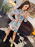 Женское красивое платье-рубашка из штапеля с цветочным принтом (3 цвета), фото 6