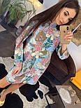 Женское красивое платье-рубашка из штапеля с цветочным принтом (3 цвета), фото 10