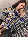 Женское красивое платье-рубашка из штапеля с цветочным принтом (3 цвета), фото 9