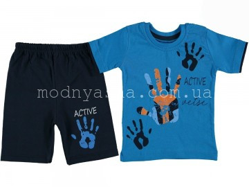 Футболка с шортами мальчику 1-3 лет