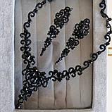Колье чёрное с красными  камнями, высота 6,5 см., фото 9
