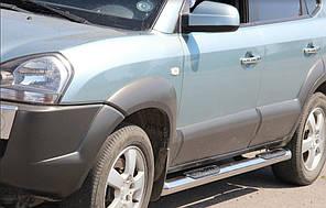 Пороги с накладками нержавейка для Acura MDX (06-13)