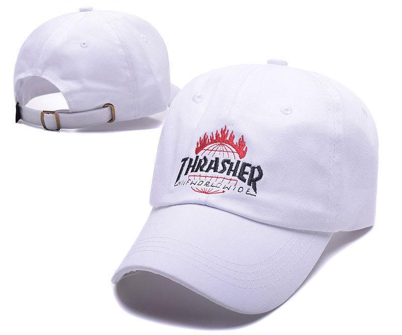 ✔️ Белая кепка бейсболка Thrasher worldwide