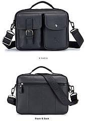 Кожаная мужская сумка-мессенджер ETONTECK