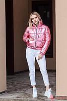 Женская демисезонная короткая куртка двухсторонняя, фольга, фото 1
