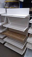 Пристенный стеллаж б\у с деревянной полкой для хлеба