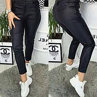 Женские кожаные брюки свободного кроя
