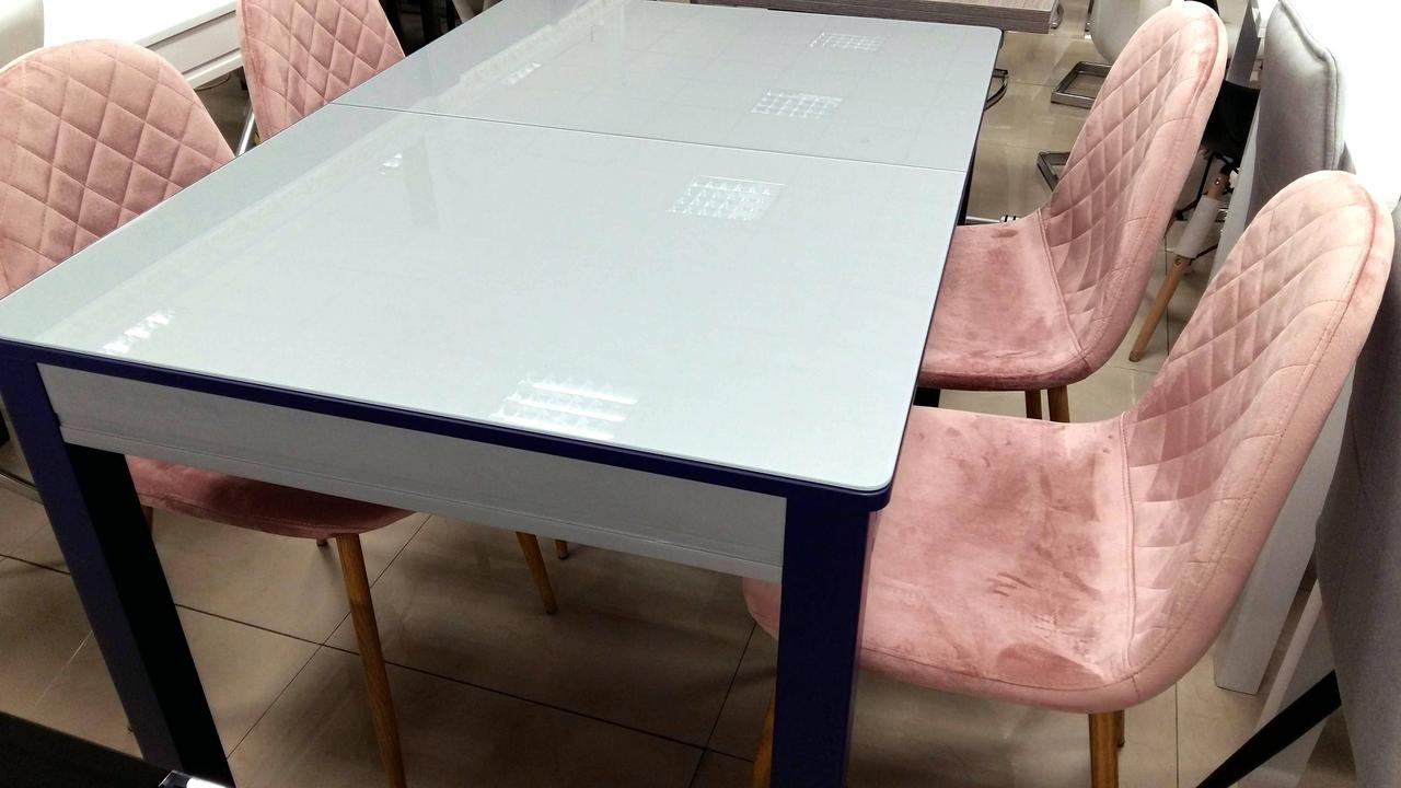 Стол кухонный стеклянный Сан-Ремо ТМ Биформер, цвет на выбор