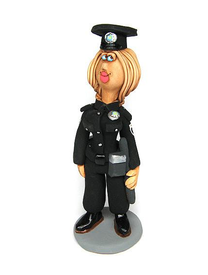 Статуэтка Полицейский женщна керамическая
