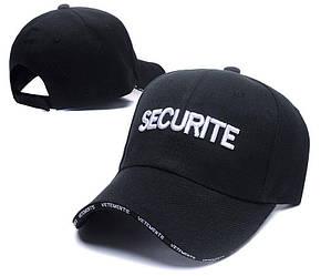 ✔️ Чёрная кепка бейсболка Vetements Securite