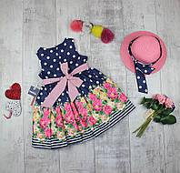 Плаття дитячі на літо і панама Bebus 805, фото 1