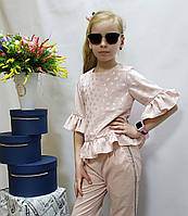 Кофточка  для девочки Код 808 лето , размеры на рост от 122 до 140 возраст от 6 до 10 лет