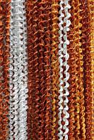 Шторы нити Радуга Спирали Белый+Терракотовый+Оранжевый