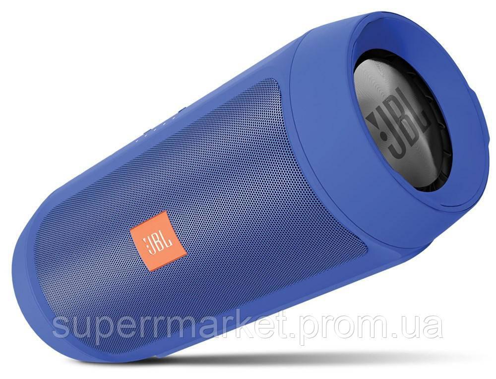 JBL Charge 2+ E2+ 10W копия, блютуз колонка c FM и MP3, синяя