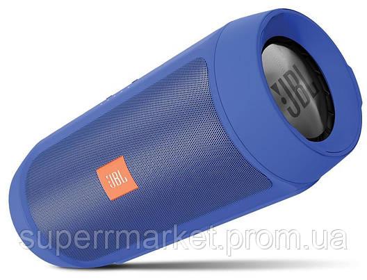 JBL Charge 2+ E2+ 10W копия, блютуз колонка c FM и MP3, синяя, фото 2