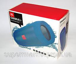 JBL Charge 2+ E2+ 10W копия, блютуз колонка c FM и MP3, синяя, фото 3