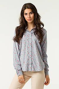 Рубашка Lilove 1-004 42-44 серый