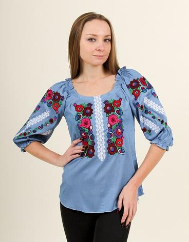 """Блуза - вышиванка """"Яркие краски"""", фото 2"""
