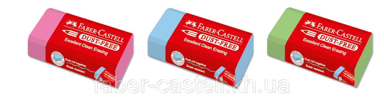 Ластик Faber-Castell Dust-Free NEON виниловый цветной , 187125