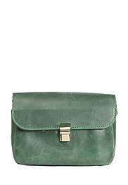 Маленькая кожаная сумочка на плечо Зеленый